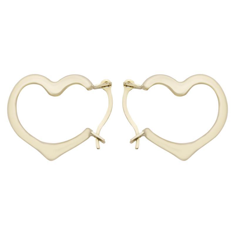 A&M 14K Gold Lightweight Heart Hoop Earrings