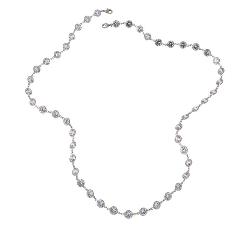 Absolute™ Cubic Zirconia Bezel-Set Station Necklace
