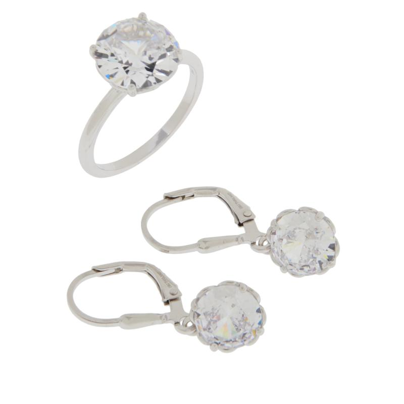 Absolute™ Cubic Zirconia Ring and Drop Earrings Set