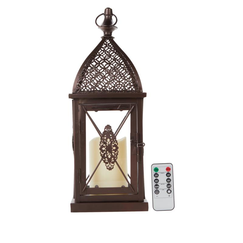 Alison at Home Indoor/Outdoor Lantern with Flameless Candle and Remote