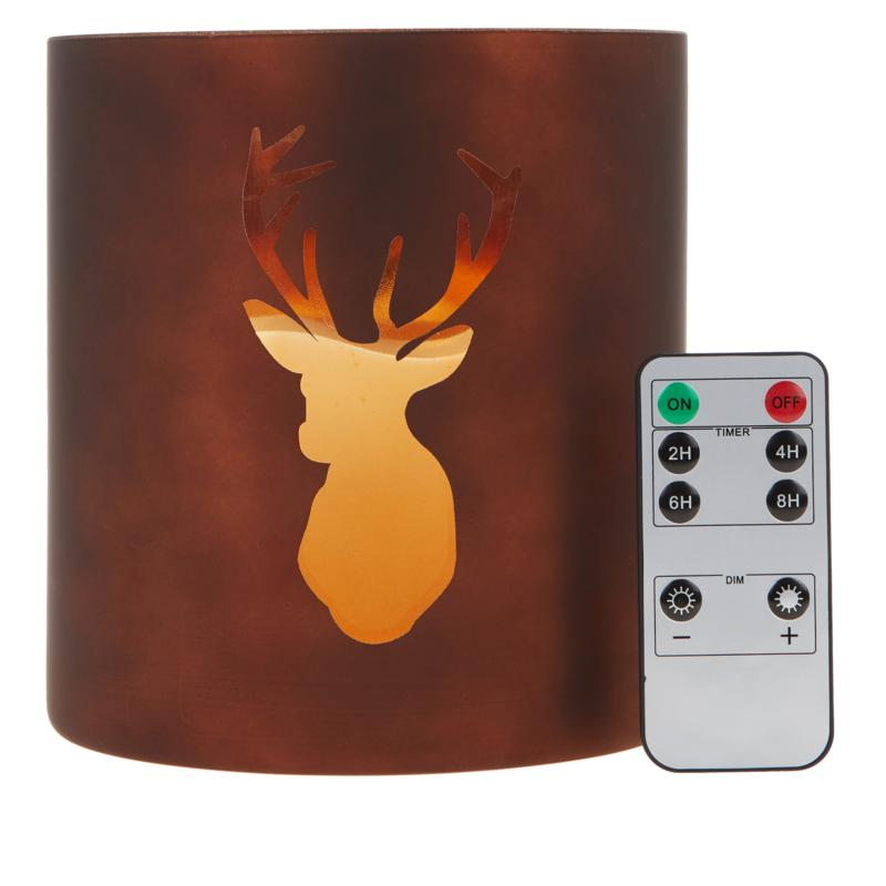 Alison Cork Stag LED Candle Holder with Remote