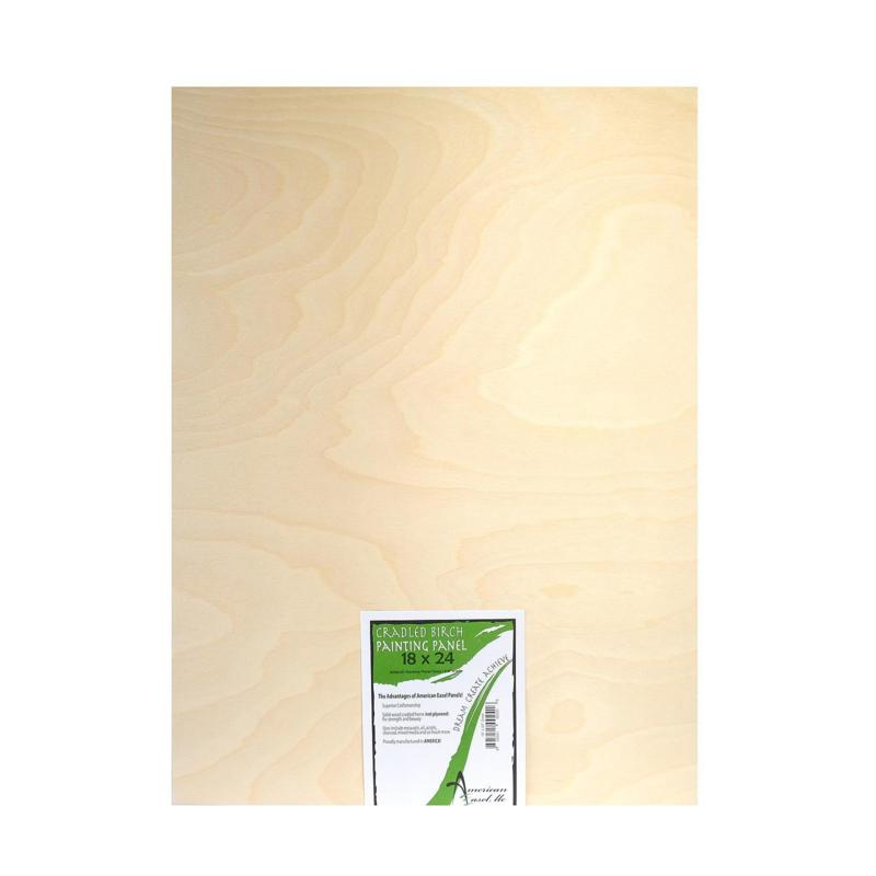 "American Easel 1 5/8"" Cradled Wood Painting Panels 18"" x 24"""