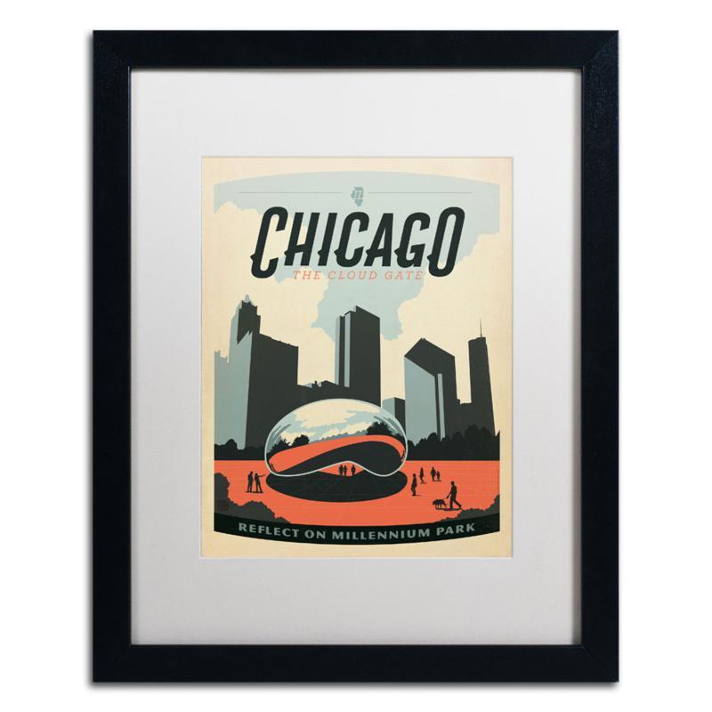 "Anderson Design Group ""Chicago Cloud Gate"" Framed Art"