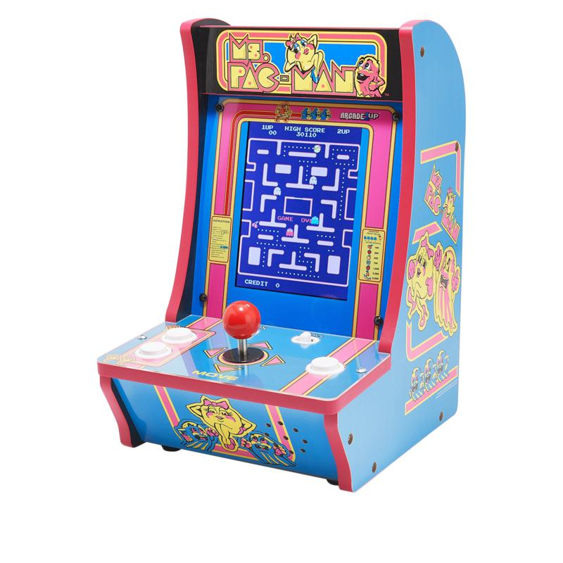 Arcade1Up 2-in-1 Countercade with Ms. Pac-Man and Super Pac-Man Games