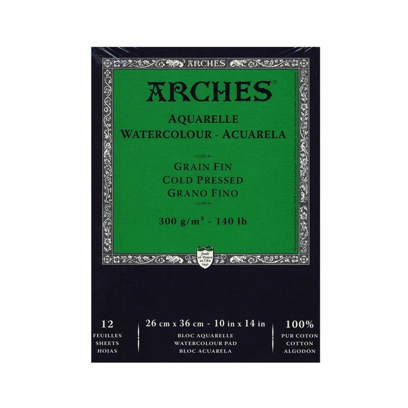 """Arches Watercolor Pad 10"""" x 14"""" Cold Pressed 140 lb."""