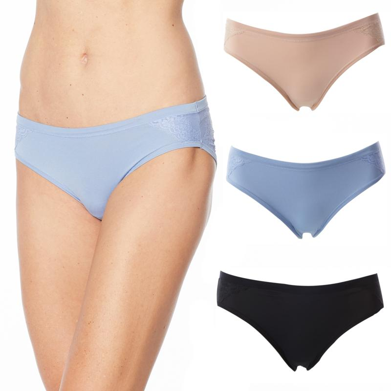 Aria Heavenly Touch 3pk Bikini with Lace Detail
