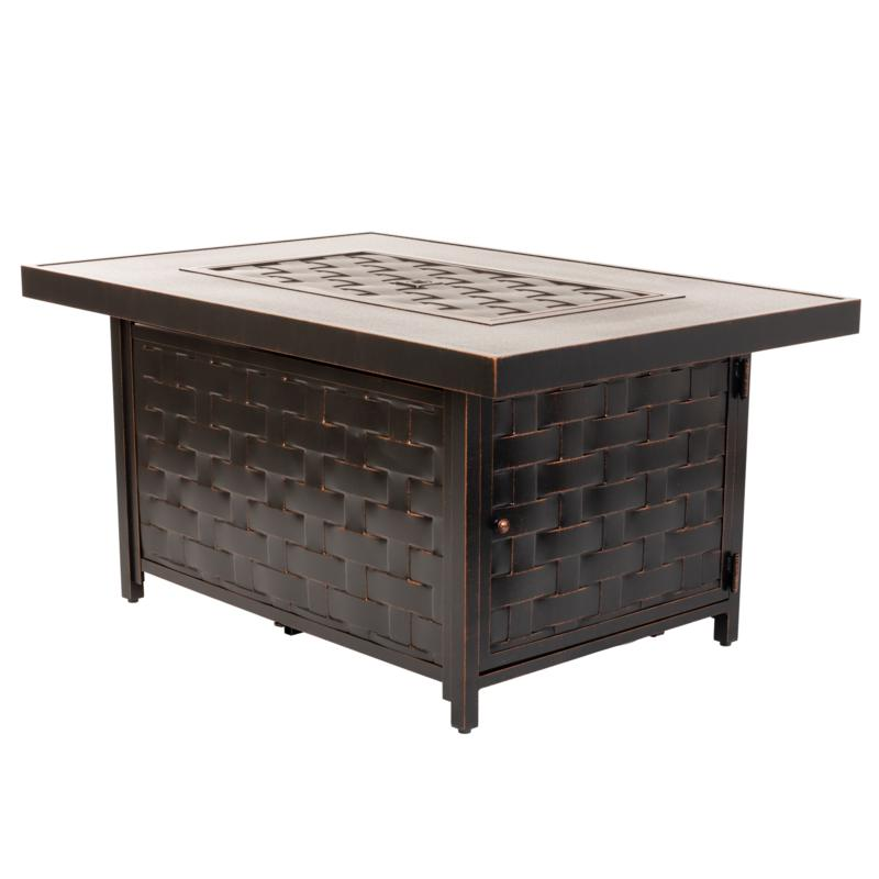 Armstrong Rectangle Aluminum LPG Fire Pit