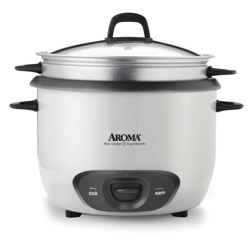 Aroma ARC-743-1NG 6-Cup Pot Style Rice Cooker - White