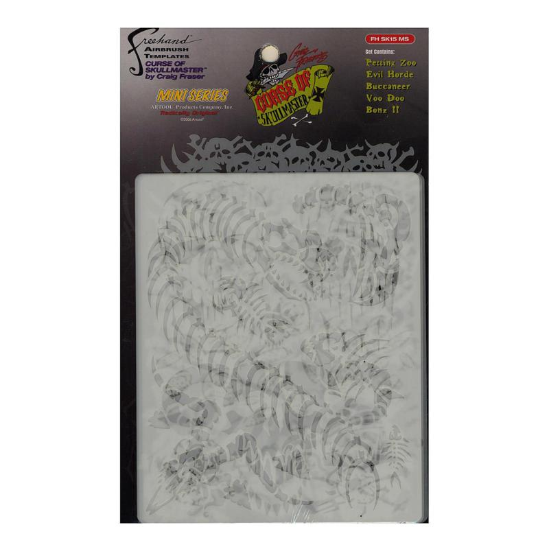 Artool Curse of Skullmaster Mini Series Airbrush Templates 5-pack