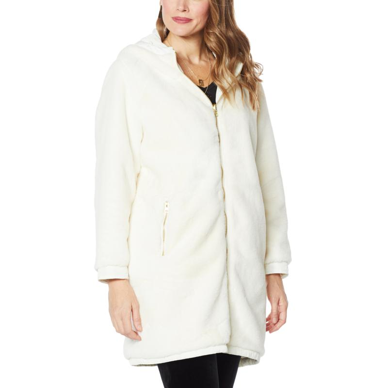 """""""As Is"""" Antthony """"Holiday Luxe"""" Reversible Hooded Coat"""