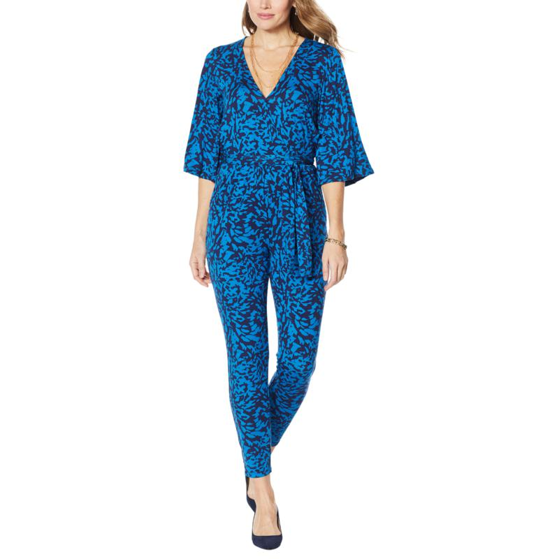"""""""As Is"""" Colleen Lopez Flutter-Sleeve Jumpsuit with Pocket"""