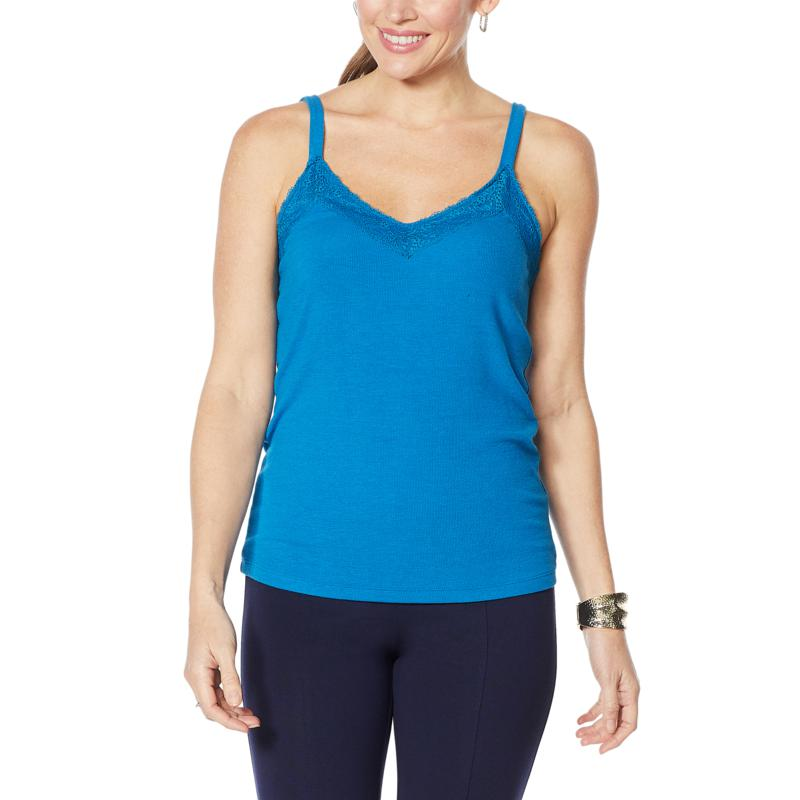 """As Is"" Colleen Lopez Knit Tank with Lace Detail"