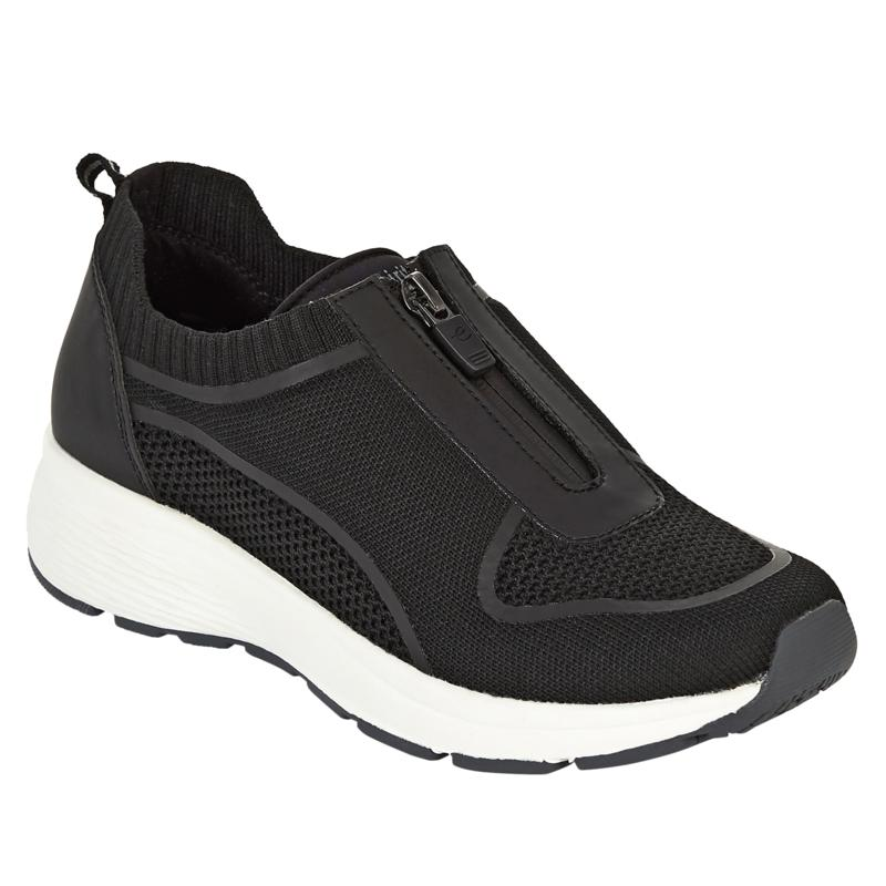 """As Is"" easy spirit Striver2 Front-Zip Sneaker"
