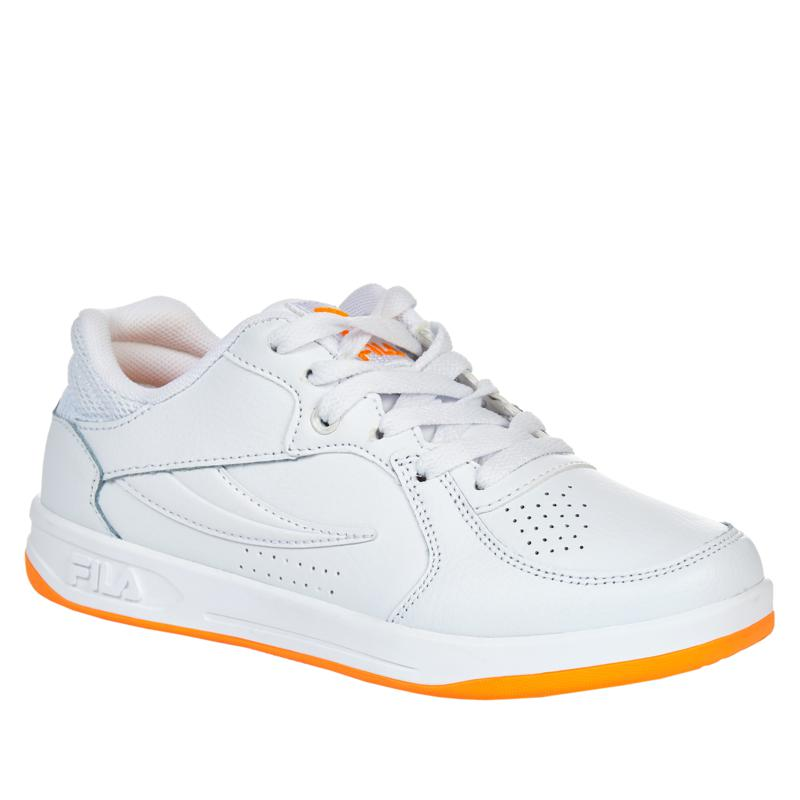 """""""As Is"""" FILA TN-83 White Leather Court Shoe"""