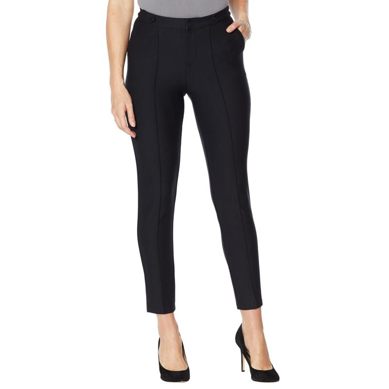 """""""As Is"""" G by Giuliana Knit Twill Pintuck Ankle Pant"""