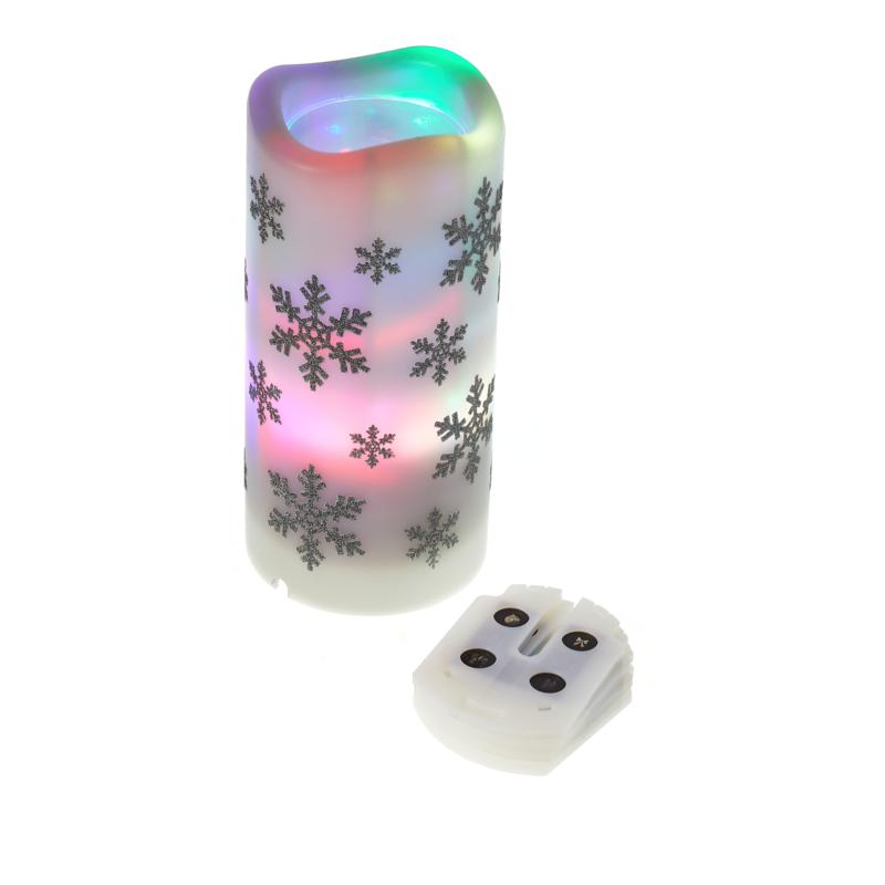 """""""As Is"""" Holiday Candle Projector with 4 Interchangeable Holiday Slides"""