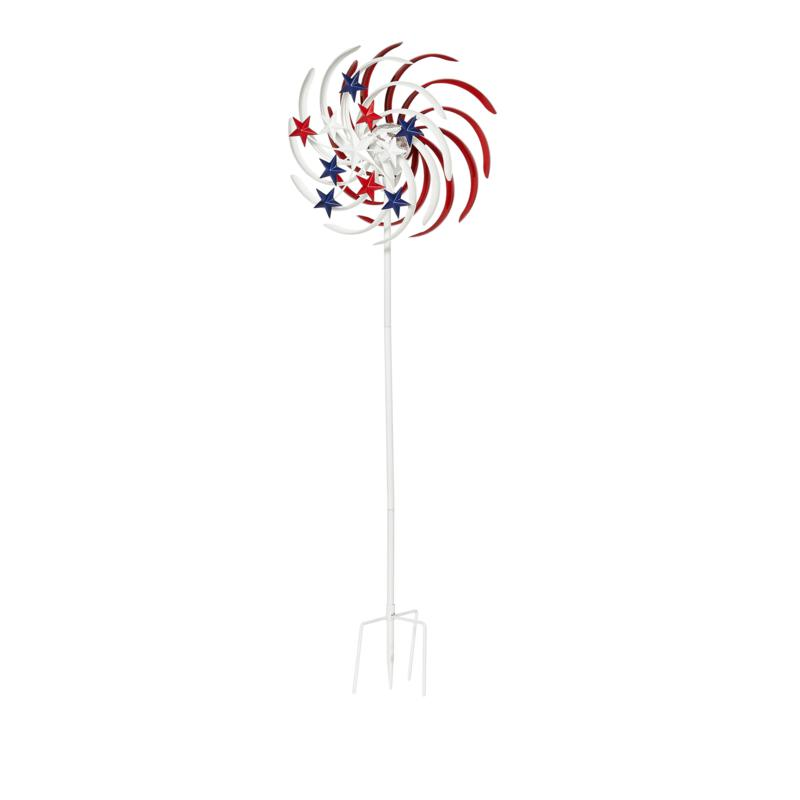 """""""As Is"""" Improvements Americana LED Solar Spinner"""