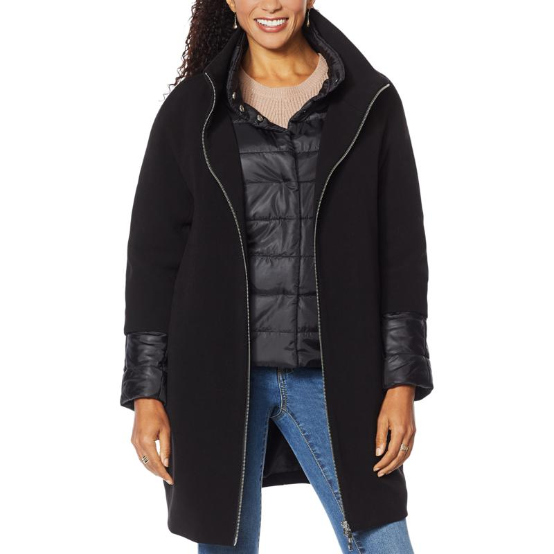 """As Is"" Laurier 3-in-1 Coat with Pockets"