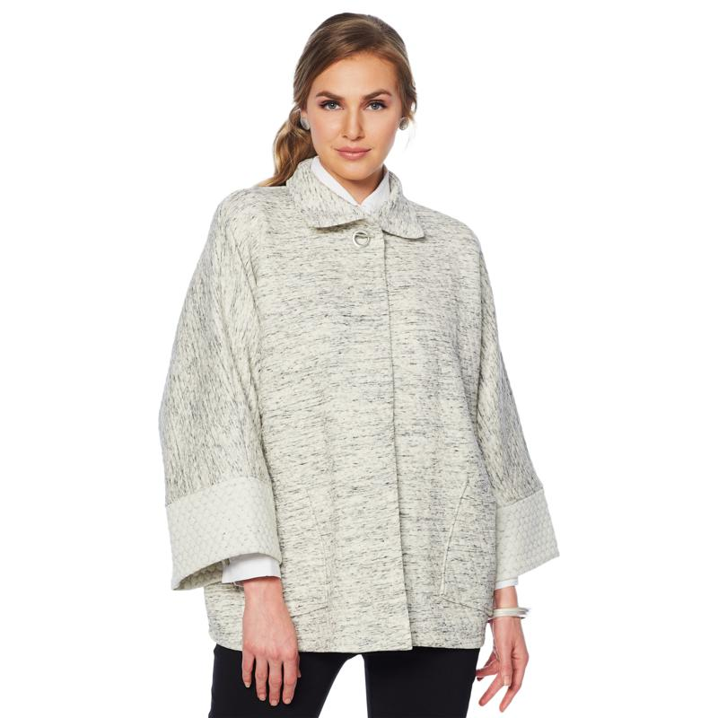 """""""As Is"""" MarlaWynne Double-Faced Knit Drama Topper"""