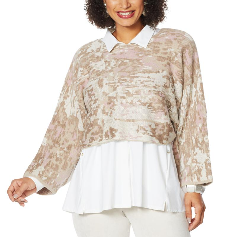 """As Is"" MarlaWynne Jacquard Popover"