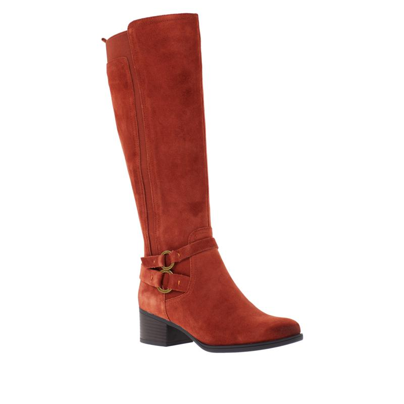 """""""As Is"""" Naturalizer Kiana Leather or Suede Riding Boot"""