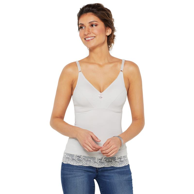 """""""As Is"""" Rhonda Shear 2-pack Pin Up Camisole with Lace Trim"""