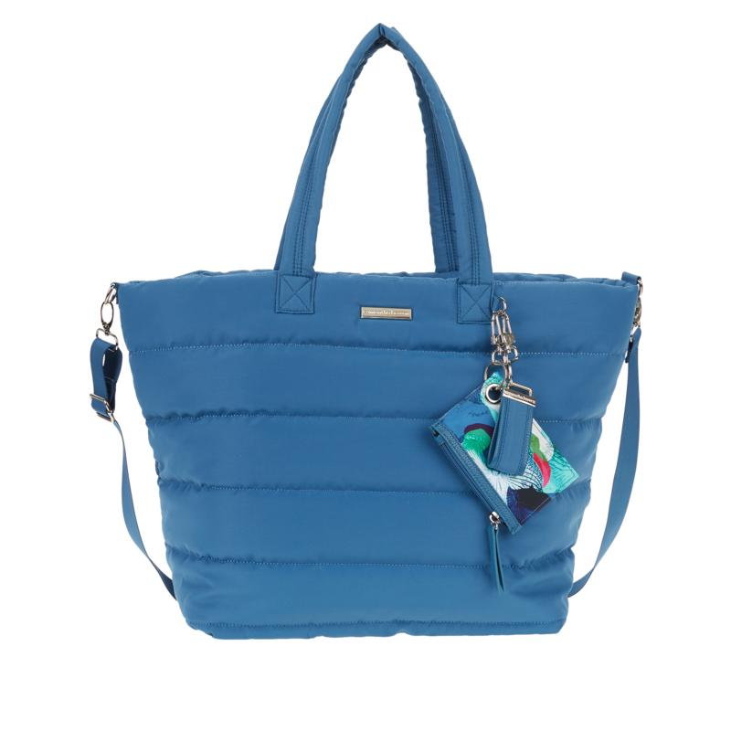 """""""As Is"""" Samantha Brown To-Go Quilted Crossbody Tote With Pouch"""