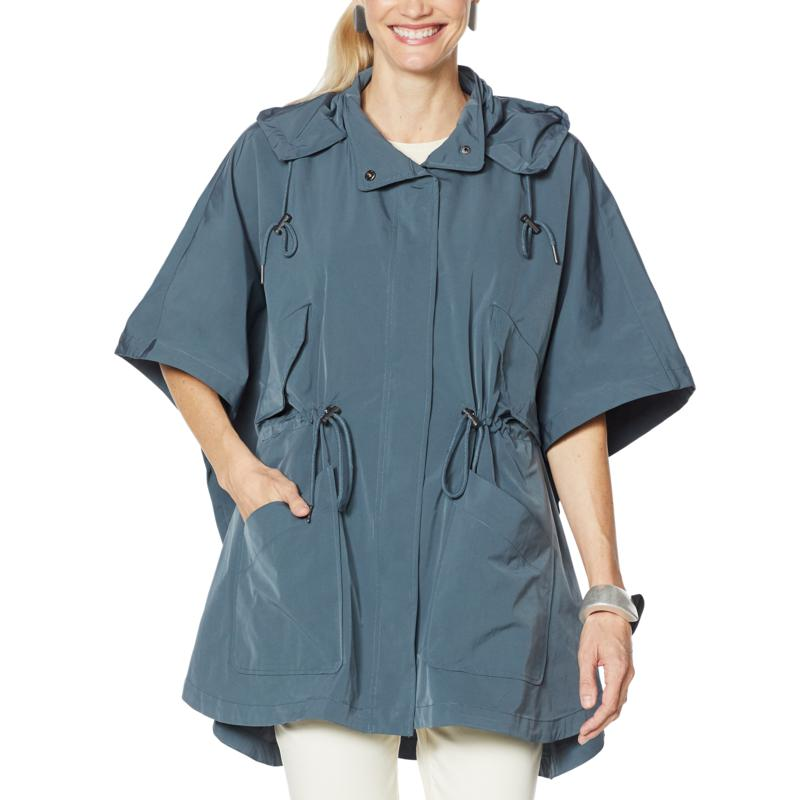 """""""As Is"""" WynneLayers Hooded Poncho Jacket"""