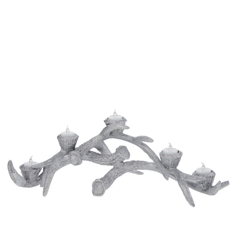 august & leo Antler Candle Holder with 5 LED Candles