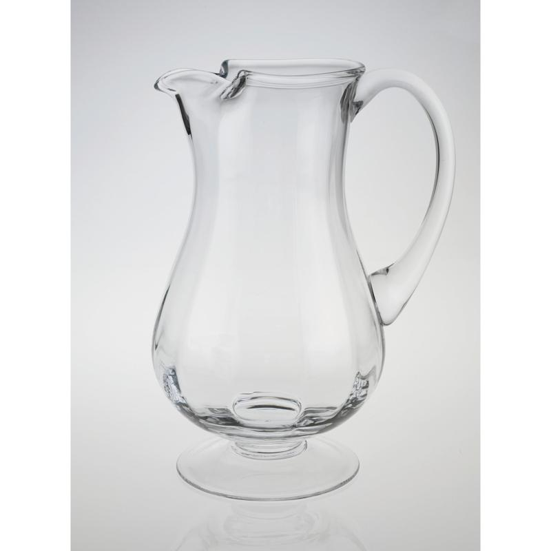 Badash Impressions Mouth Blown Lead Free Crystal Optic Pitcher 54 Oz 9684230 Hsn