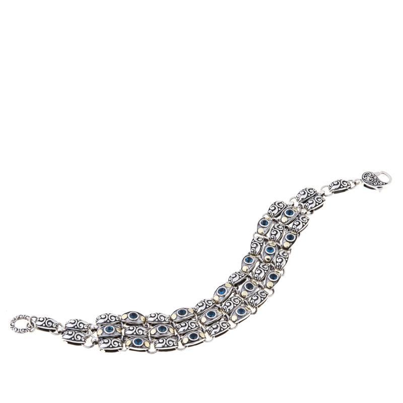 Bali RoManse 2.08ctw London Blue Topaz Layered Bracelet