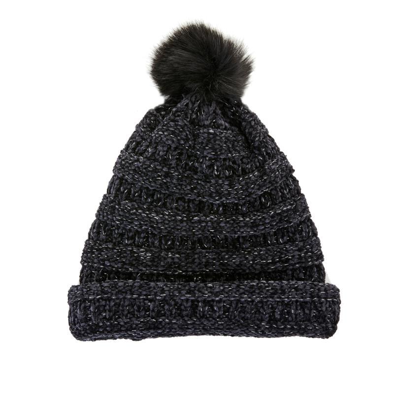 BEARPAW® 2 in 1 Knit Scarf Hat with Pompom