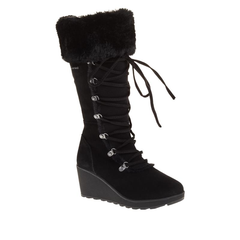 BEARPAW® Minka Suede Tall Laced Boot with NeverWet™