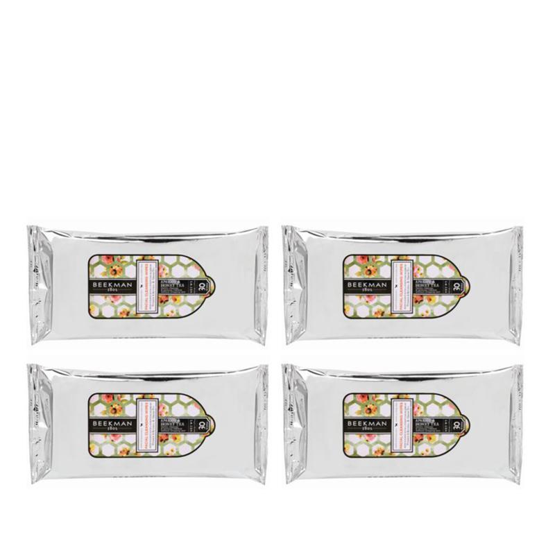 Beekman 1802 Apricot & Honey Tea 4-pack Face Wipes