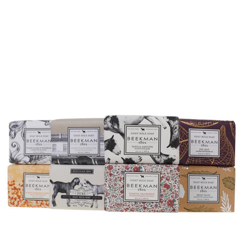 Beekman 1802 Goat Milk 9 oz. Bar Soap 8-piece Collection