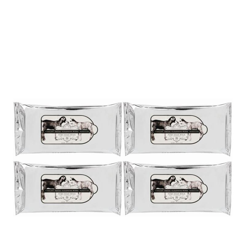 Beekman 1802 Pure Goat Milk 4-pack Face Wipes
