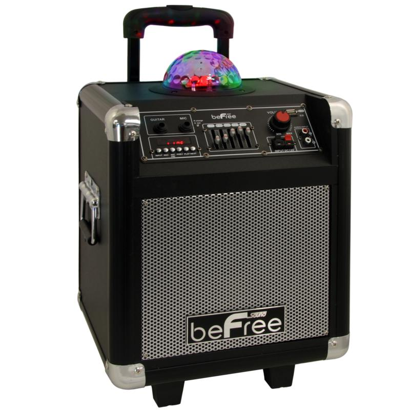 beFree Sound Party Light Dome Portable Bluetooth Speaker
