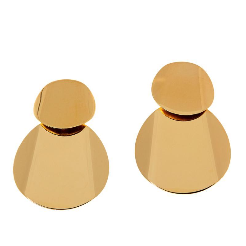 Bellezza Bronze Double Disc Drop Earrings