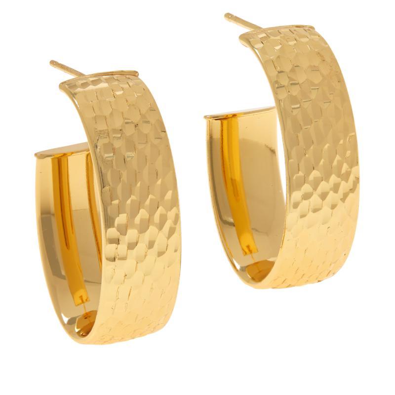 Bellezza Bronze Jumbo Diamond-Cut Oval Hoop Earrings