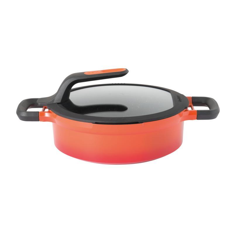 "BergHOFF Gem 10"" Cast Aluminum Non-Stick Covered Two-Handle Saute Pan"