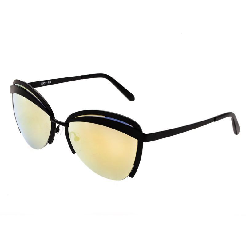 Bertha Aubree Polarized Sunglasses - Black Frames and Yellow Lenses