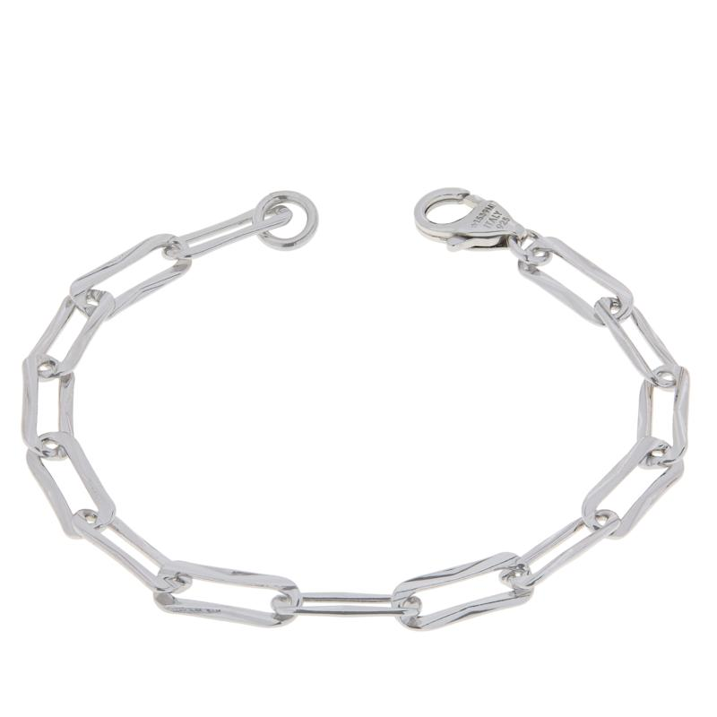 Bianca Milano Sterling Silver Paper Clip Link Chain Bracelet