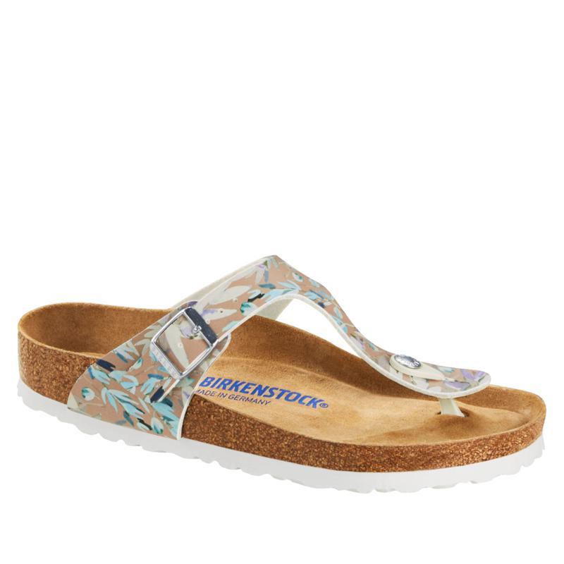 Birkenstock Gizeh Soft Footbed Floral Fades Thong Sandal