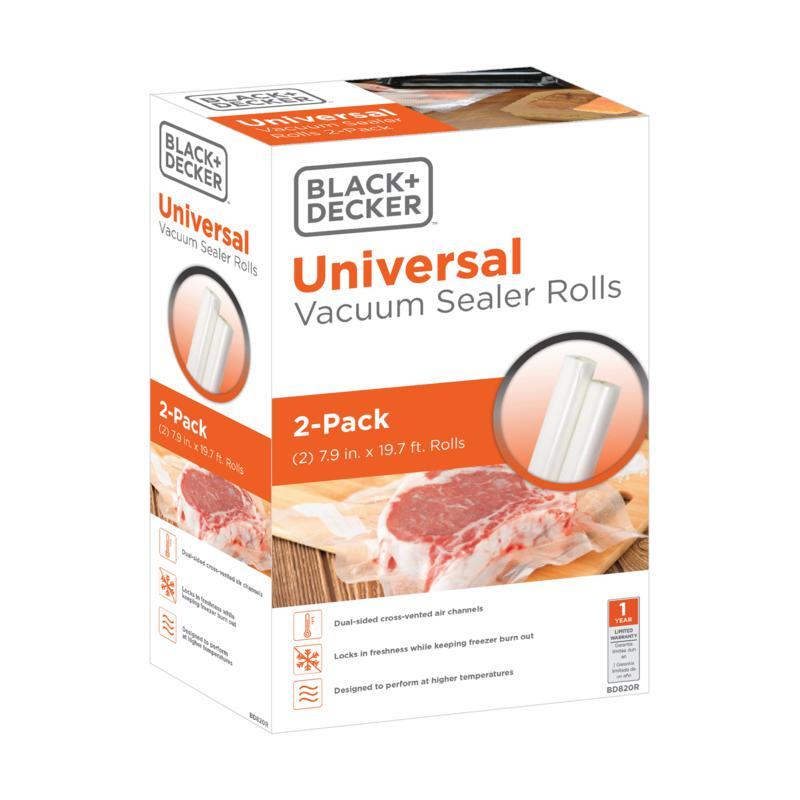 "Black + Decker Vacuum Sealer Rolls 7.9"" x 19.7' - 2-pack"