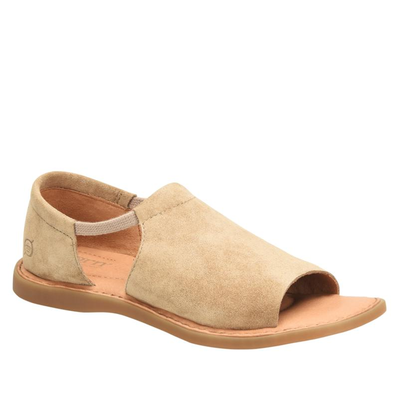 Born Cove Modern Leather or Suede Slip-On Sandal