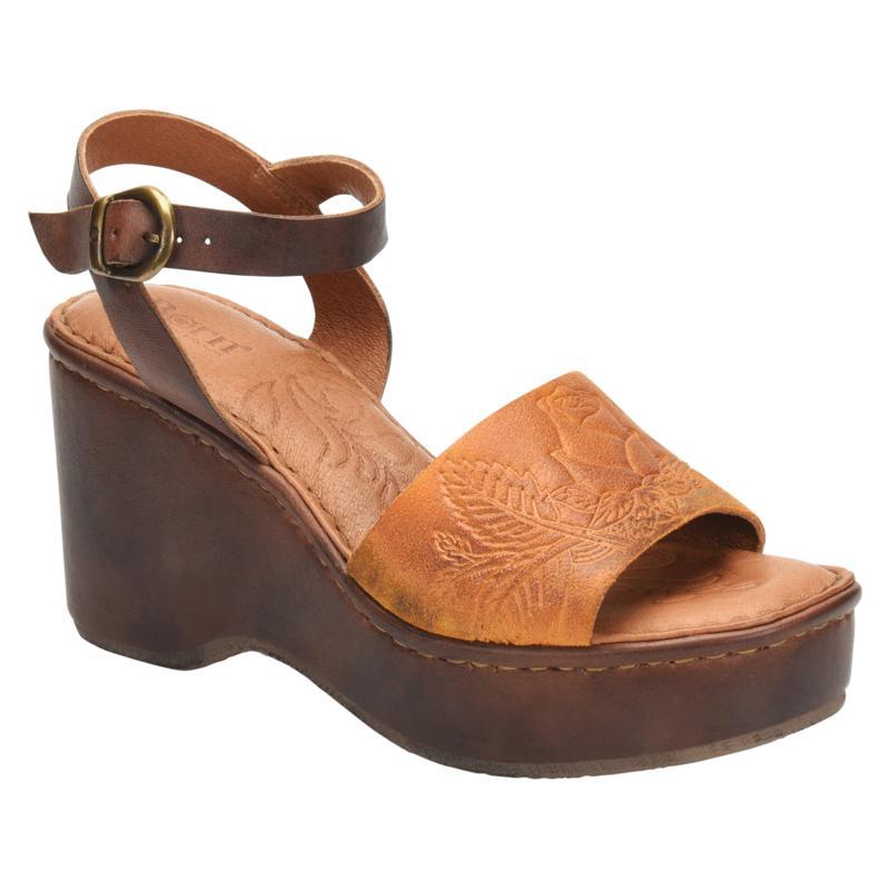 Born® Moapa Leather Platform Wedge Sandal
