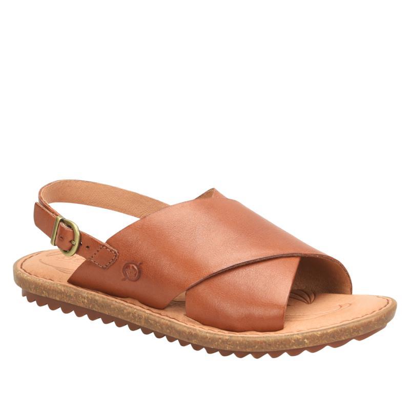 Born Santa Rosa Leather Criss-Cross Slingback Sandal