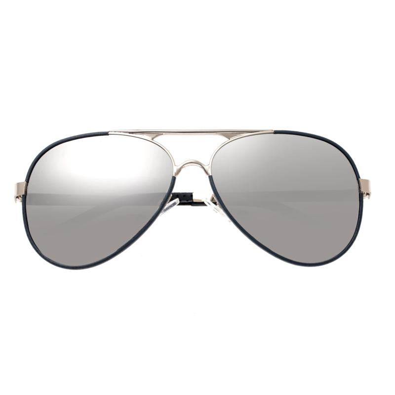 Breed Genesis Polarized Sunglasses with Silver Frames and Lenses