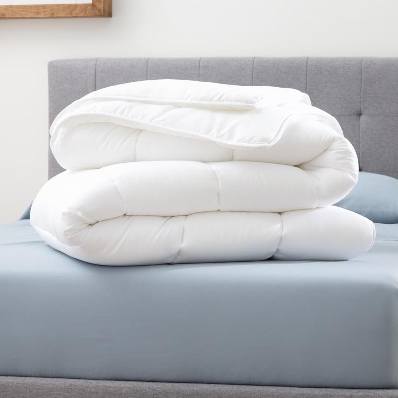 Brookside Medium Warmth Down Alt Microfiber Comforter, Oversized King