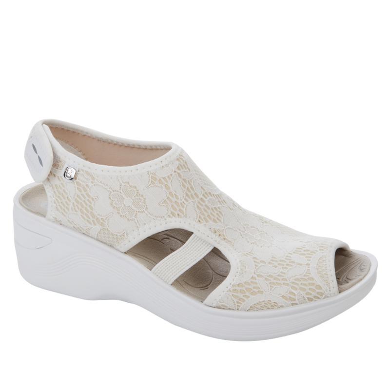 Bzees Dream Washable Peep-Toe Wedge Sandal